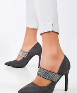 Pantofi stiletto Amelie Gri