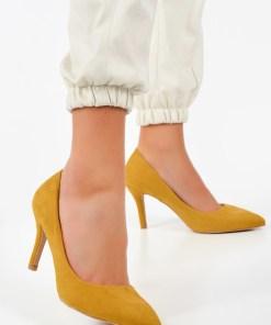 Pantofi stiletto Aruana Galbeni