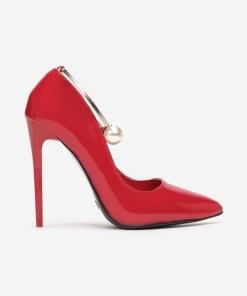 Pantofi stiletto Marela Rosii