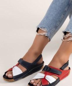 Sandale piele naturala Vienna Multicolore