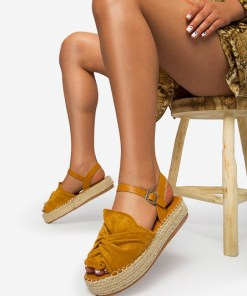 Sandale dama Malvina Camel
