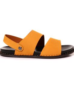 Sandale bărbați TheZeus galbene din piele 2101BS14312G 20088