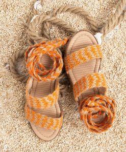 Sandale dama Wool Portocalii