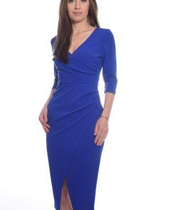 Rochie de ocazie albastra de lungime midi