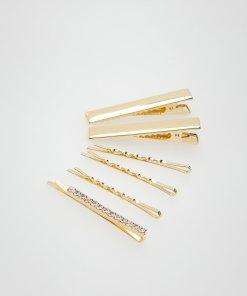 Reserved - Set de 6 agrafe de păr - Auriu