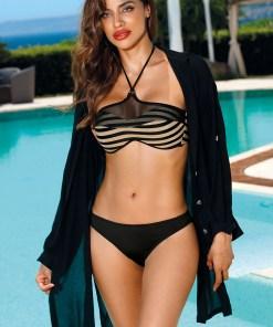 Rochie-cămașă de plajă Leslie Black