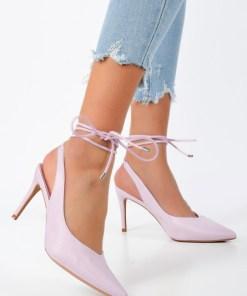 Pantofi cu toc Dorinia Mov