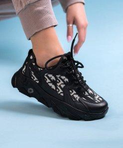 Adidasi Textil,Piele Ecologica Negri Naomi X2218