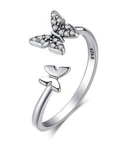 Inel din argint Little Butterflies