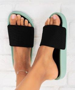 Papuci/Slapi Textil Menta Brianna X5292