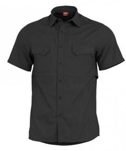 Pentagon Plato cămașă cu mânecă scurtă, neagră