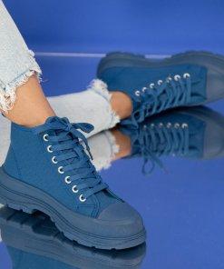 Sneakersi Textil Bleumarin Finleigh X2699