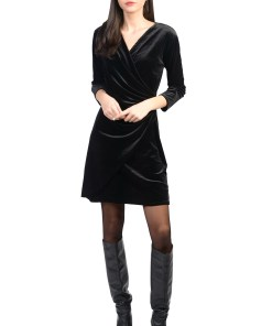 Rochie neagra drapata 2060 NG