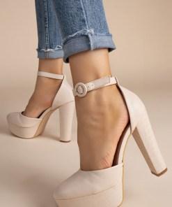 Pantofi cu toc Roxane Bej