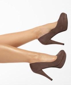 Pantofi cu toc Edela Kaki