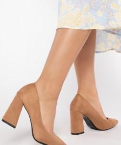 Pantofi cu toc Amalya Kaki