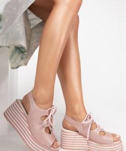 Sandale piele naturala Lucille Roz