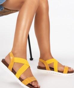 Sandale fara toc Iga Galbene