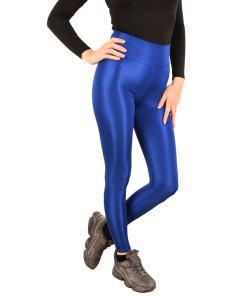 Colanti luciosi albastru pentru dama - cod 43599