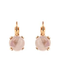 Cercei placati cu Aur roz de 24K, cu cristale Swarovski, Purple Rain | 1440-M83RG6