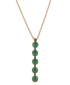 Pandantiv cu lant placat cu Aur roz de 24K, cu cristale Swarovski, Silky Sage DeLite | 5430/5-169169RG