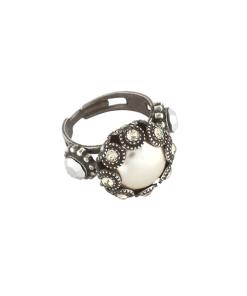 Inel placat cu Argint 925, cu cristale Swarovski, Crystal Pearl's | 7042-1006SP