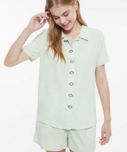 Pijama scurta cu nasturi 3946336