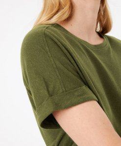 Tricou relaxed fit din amestec de in 3731169