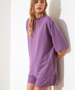 Pijama scurta cu maneci cazute 3504343