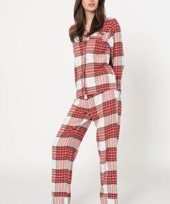 Pijama de flanel cu model 3346806