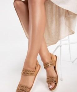 Sandale dama Trisha Camel