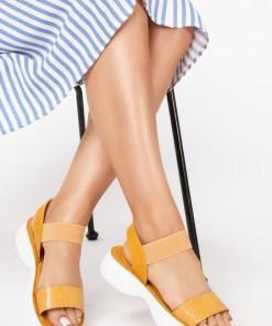 Sandale dama Giovana Galbene