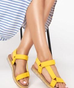 Sandale dama Udine Galbene
