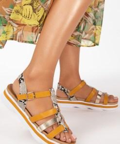 Sandale dama Elena Galbene