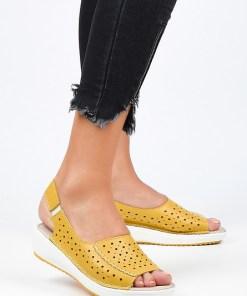 Sandale dama Larnaca Galbene