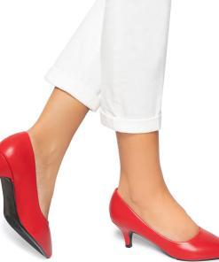 Pantofi dama Macha, Rosu