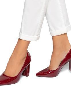 Pantofi dama Malene, Visiniu