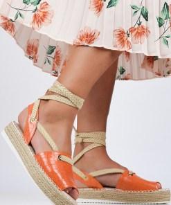 Sandale dama Amenia Portocalii