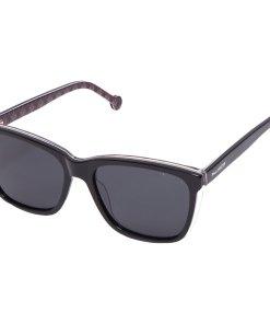 Ochelari de soare unisex Polarizen WD6001 C2 BLACK/BROWN PATTERN/CRYSTAL