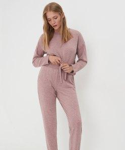 Sinsay - Pijama din două piese - Roz