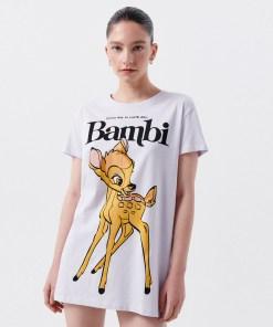 Cropp - Cămașă de noapte cu imprimeu Bambi - Violet