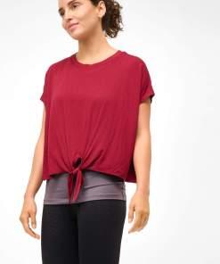 Tricou dublu cu model tip legătură Piros