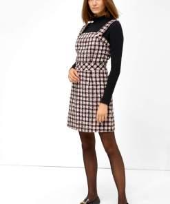Rochie din tweed cu bretele Negru