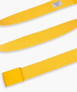 Cropp - Curea din material textil, cu cataramă - Galben