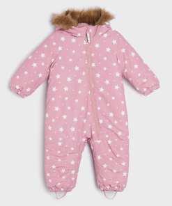 Sinsay - Salopetă de iarnă ECO AWARE, pentru bebeluși - Roz