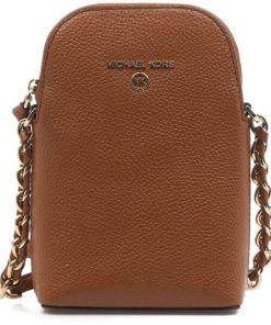 Michael Kors Phone Crossbody Bag Brown