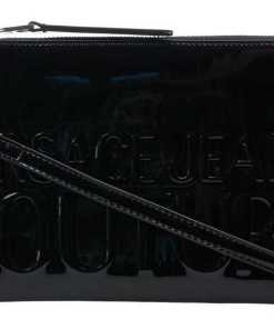 Versace Clutch with logo Black