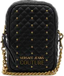 Versace Crossbody bag with stud details Black