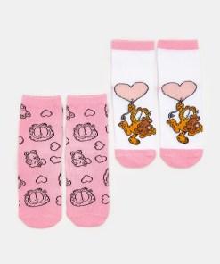 Sinsay - Set de 2 perechi de șosete Garfield - Gri deschis