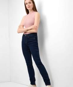 Blugi slim regular waist Albastru